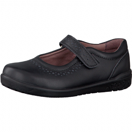 Ricosta LILLIA Leather Velcro Mary Jane School Shoe (Black)